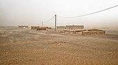 Sandstorm on the village of Khamlia - Morocco