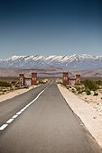 Road to Ouarzazate and snowcapped - High Atlas Morocco
