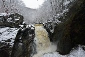 Waterfall in winter - Limousin France