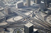 Exchanger motorway - Dubai United Arab Emirates ; Photograph taken in the tallest tower in the world Burj Khalifa calling and place named At the Top