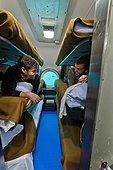Men in bunk - Aquarius Reef Base Florida ; 6 bunks for 6 crew members