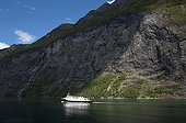 Cruise Ship in Geirangerfjord - Norway