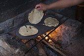 Child preparing tacos with his mother - Guanajuato Mexico ; Antonio 11 years