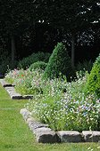 Garden path and flowerbeds