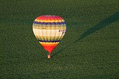Balloon over a field - Picardy France