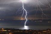 Thunderbolt branched on the Etang de Berre - France