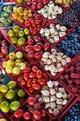Various fruit on a stall - Québec Canada  ; Jean Sablon market