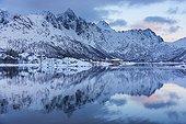 Coastal landscape Sildpollen - Lofoten Norway