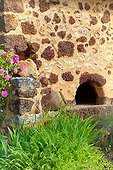 Old bread oven in a stone farmhouse-Perigord France