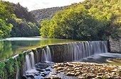 Waterfall over a dam - Cévennes France