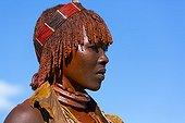 Portrait of Hamer woman - Omo valley Ethiopia