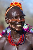 Portrait of Hamer man - Omo valley Ethiopia