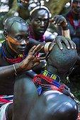 Hamer men at a ceremony - Omo valley Ethiopia