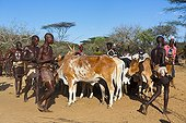 Hamer people at a ceremony - Omo valley Ethiopia  ; When Ukuli