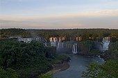 Dusk on the Iguazu Falls - Parana Brazil