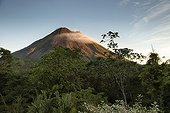 Mt Arenal and cloud swirling around the top - Costa Rica