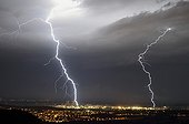 Lightning on the Tricastin Nuclear plant - France