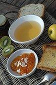 Breakfast on a garden terrace