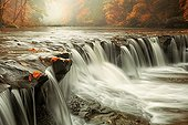 Squaw Rock falls in South Chagrin Reservation in Ohio - USA