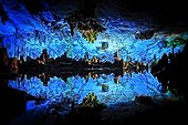 Interior of the reed flute cave in Guilin - Guangxi China
