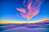 Sunset at White Sands - New Mexico USA