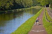 Roller along the Canal de la Marne au Rhin - Alsace France