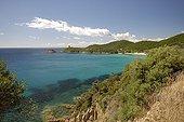 Anse Fautea - Eastern Coast of Corsica France ; Tower Fautea the bottom