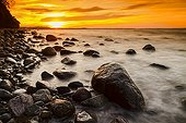 Sunset on the island of Rügen - Baltic Sea Germany