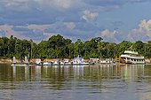 Towboat and barge on the Rio Purus - Brazil Amazon