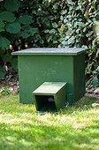 Hedgehog shelter in a garden