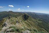 Top of the Puy Mary - PNR Auvergne Volcanoes France ; Les Fours de Peyre Arse, Puy de Peyre Arse<br>1806m altitude. Ranked trusted France