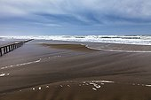 Piemanson beach with tempest - PNR Camargue France