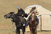 Equestrian Games in Ulach Taricht at Lake Son Kul - Kyrgyzstan