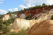 Old ochre quarry at Colorado de Rustrel in Provence - France