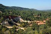 Old ochre quarry at Colorado de Rustrel in Provence - France