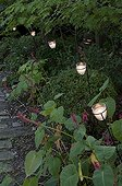 Garden lighting with candle jars