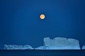 Moonrise and Icebergs - Scoresbysund Greenland