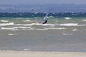 Windsurfing on Lake Geneva windy - France