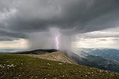 Orographic storm over the mountains of Ubac - France