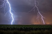 Heat storm over the countryside in summer - France