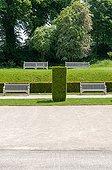 Benchs in a public garden