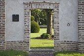 Door at a garden entrance