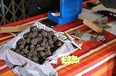 Black truffles on a stall - France