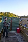Rifle shooting position of Palombes netted - Basque Country ; Napal Lanne,<br>