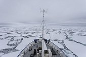 Polar ship in the ice - Ross Sea Antarctic ; Shipping and scientific cruise ship: Spirit of Enderby