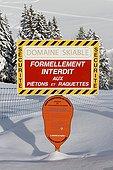 Skiing in winter - Aravis Alps France