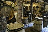 Cave Vineyard - Maison du Val de Villé Alsace France  ; traditional drums and wine press