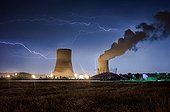 Storm on the nuclear power plant of Civaux - France