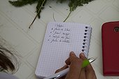 """Taking notes during stage """"wild edible plants"""" France ; Guy Lalière, naturopath botanist<br>"""