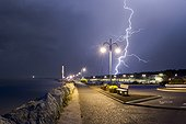 Storms on the Atlantic coast - Bay Bonne Anse France ; on July 1, 201 5<br>